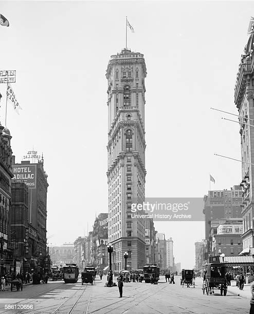 Times Building 42nd Street and Longacre Square New York City USA circa 1908