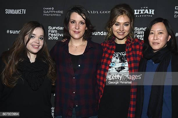 ' LA Times Film writer Amy Kaufman actresses Melanie Lynskey and Imogen Poots and Sundance Film Festival Senior Programmer Kim Yutani attend the...