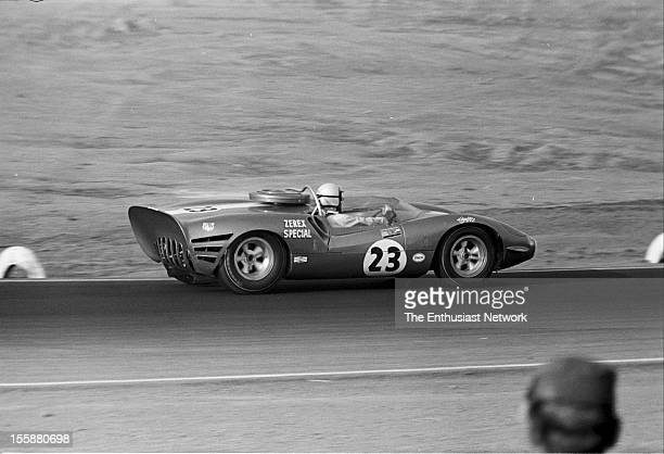 Times Grand Prix Riverside AJ Foyt driving his CooperHussein 1 The car has a massive 426 Hemi and weighs just over 1800 lbs