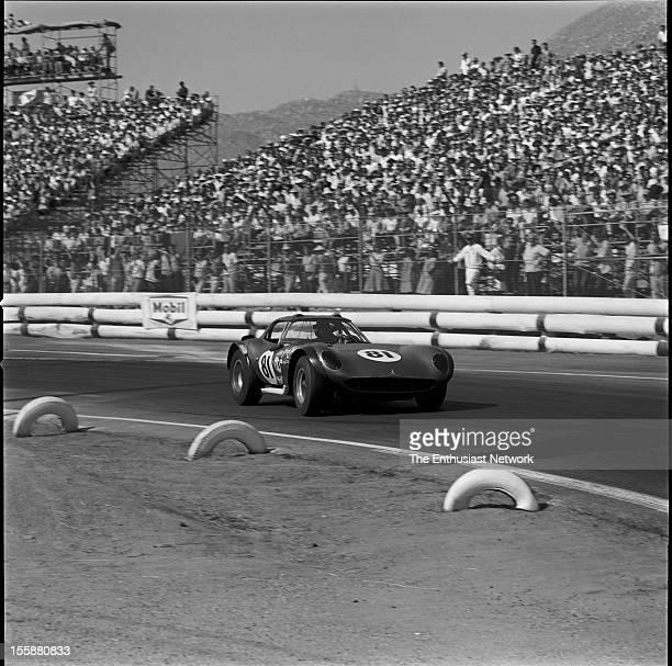 Times Grand Prix Riverside Allen Grant driving his Chevrolet powered Cheetah GT