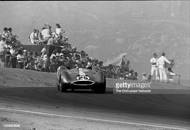 Times Grand Prix Riverside Augie Pabst driving a Chevrolet powered Genie Mk10
