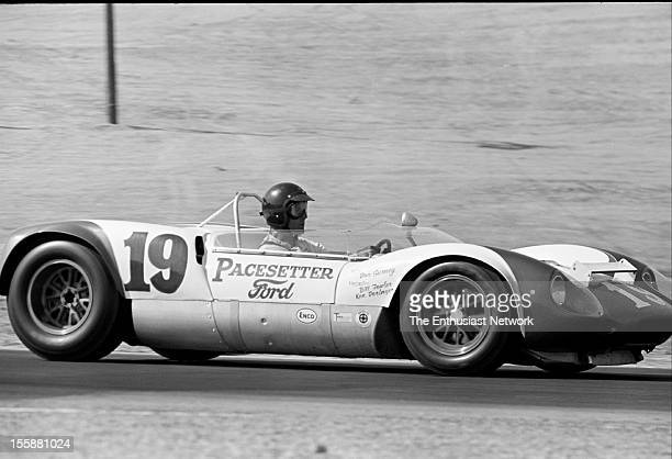 Times Grand Prix Riverside Dan Gurney driving his Ford powered Lotus 19 B