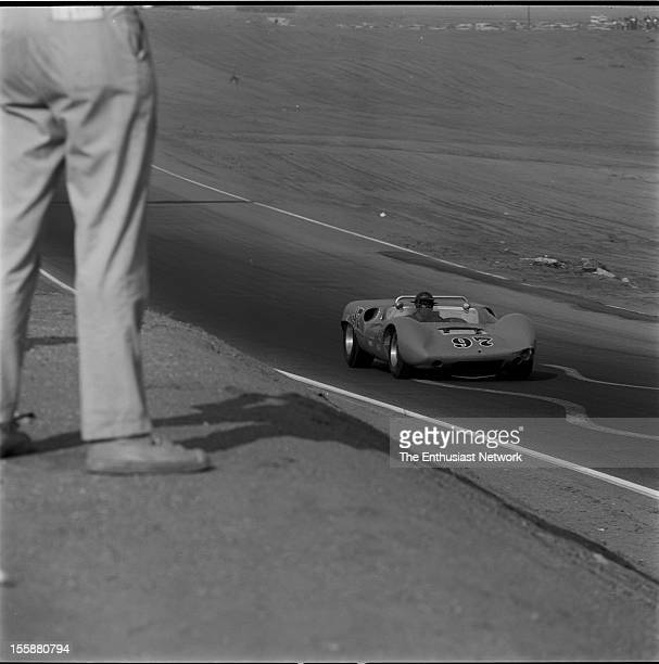 Times Grand Prix Riverside Ed Leslie of Shelby American racing drives his Ford powered Cooper Monaco Lang to a fourth place finish