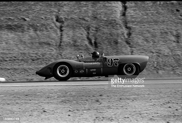 Times Grand Prix Riverside Ed Leslie of the Shelby American racing team drives a Ford powered Cooper MonacoLang