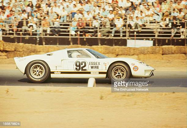 Times Grand Prix Riverside Ken Miles driving his Essex Wire Ford GT40