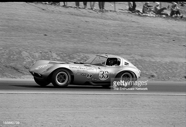 Times Grand Prix Riverside Mike Jones driving the Cadillac powered Cheetah The Cheetah was the creation of Chevrolet tuner Bill Thomas and made to...