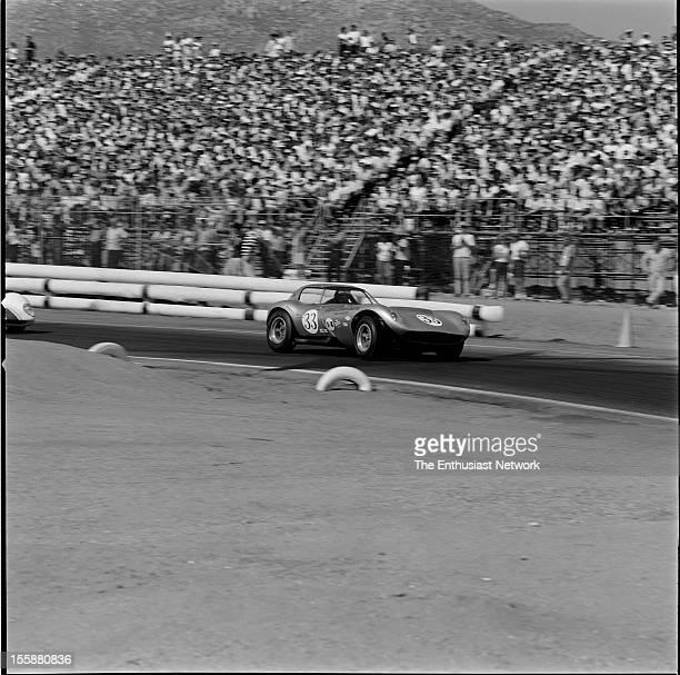 Times Grand Prix Riverside Mike Jones driving the Cadillac powered Cheetah