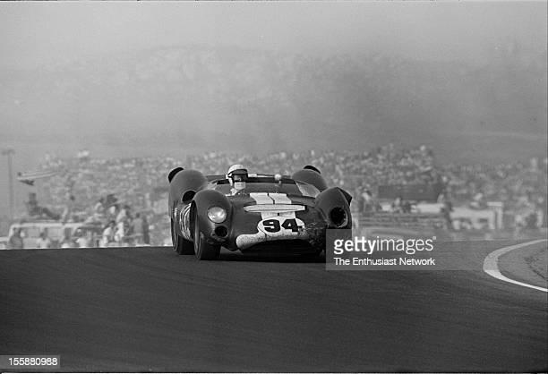 Times Grand Prix Riverside Race winner Parnelli Jones of Shelby American driving a Ford powered Cooper MonacoKing Cobra