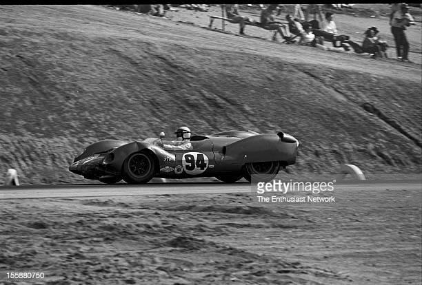 Times Grand Prix Riverside Race winner Parnelli Jones of Shelby American drives his Ford powered Cooper King Cobra