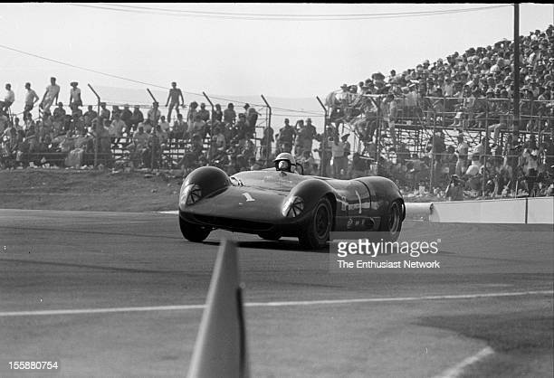 Times Grand Prix Riverside Tommy Hitchcock drives Climax/Brabham BT8 The BT8 is the creation of Sir Jack Brabham