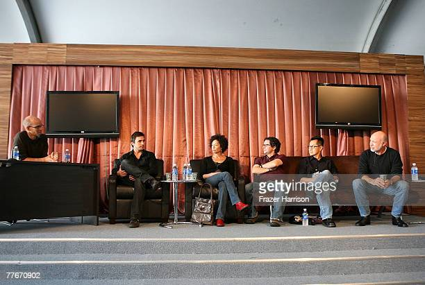 LA Times moderator John Horn 'Afghan Muscles' Director Andreas Dalsgaard Homegrown Pictures producer Stephanie Allain 'Cyrano Fernandez' Director...