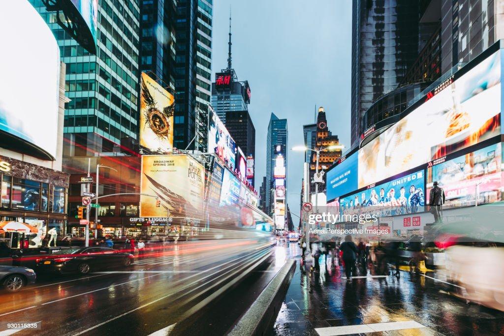 Times Square at Dusk, Manhattan, New York : Stock Photo