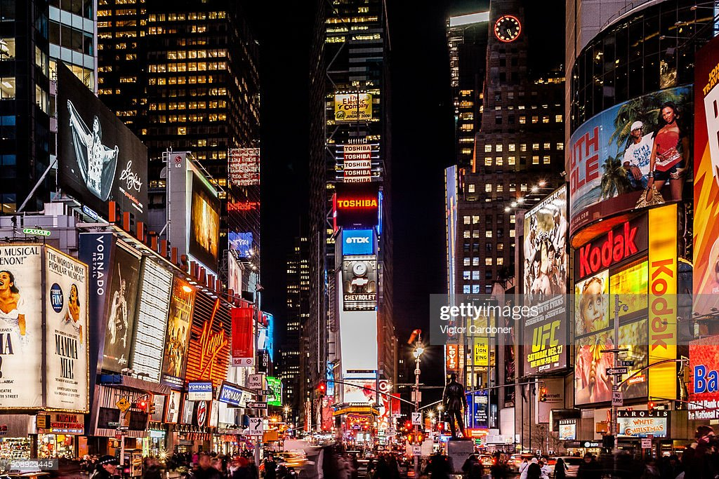 Times Square at night : Stock Photo