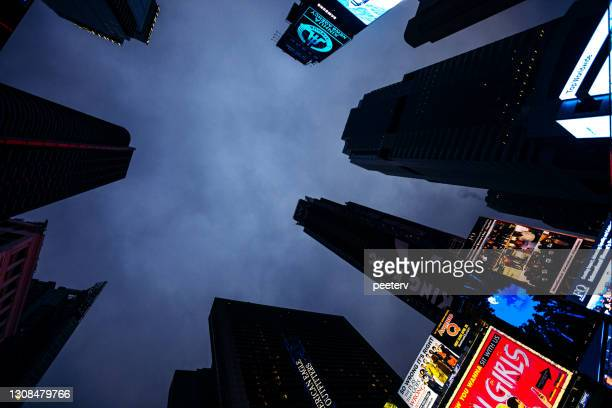 """times square by night, new york city - """"peeter viisimaa"""" or peeterv stock pictures, royalty-free photos & images"""