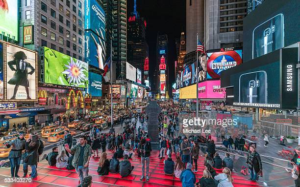 Times Square Crowd at Night