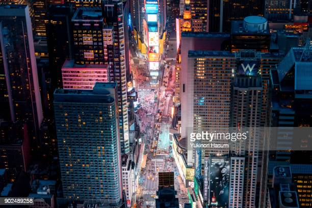 times square from above - times square manhattan stock pictures, royalty-free photos & images