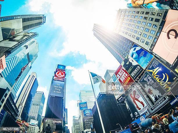 times square a new york - skyscraper film foto e immagini stock