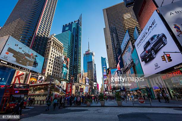 times square in new york - broadway manhattan stock photos and pictures
