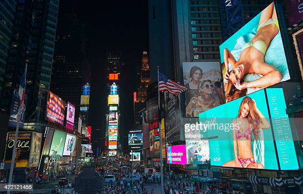 Times Square New York City bei Nacht