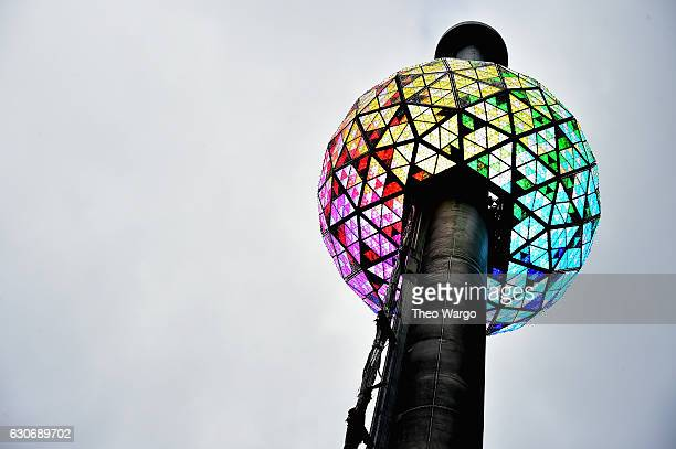 Times Square New Year's Eve 2017 Philips Ball Test at One Times Square on December 30 2016 in New York City