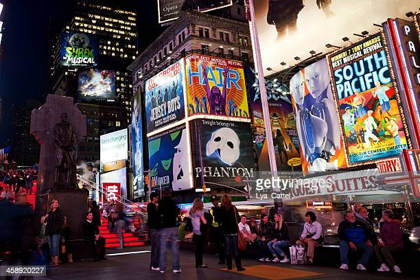 times square new york city - ghost the musical stock-fotos und bilder