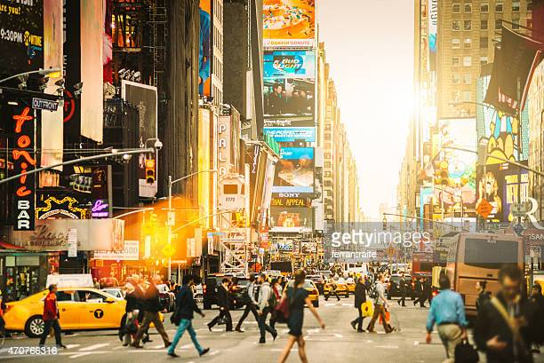 times square new york city - broadway manhattan stock photos and pictures