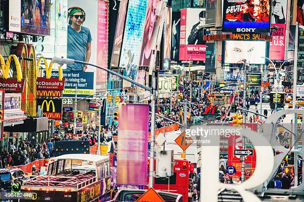 times square new york city - times square manhattan stock pictures, royalty-free photos & images
