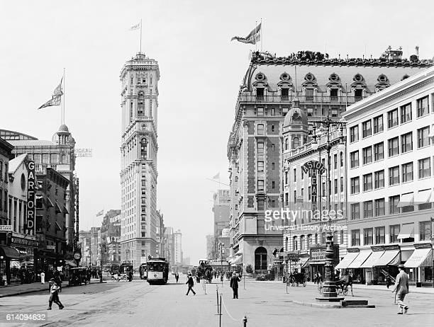 Times Square New York City USA circa 1908