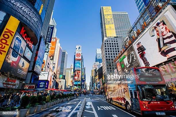 Times Square on a sunny day, New York, USA