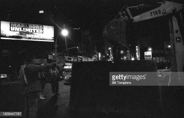 October 15: Times Square on October 15th, 1995 in New York City.