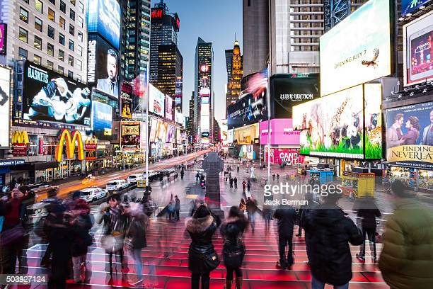 times square - broadway manhattan stock photos and pictures