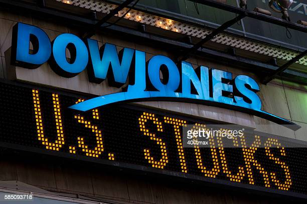 times square - dow jones industrial average stock pictures, royalty-free photos & images