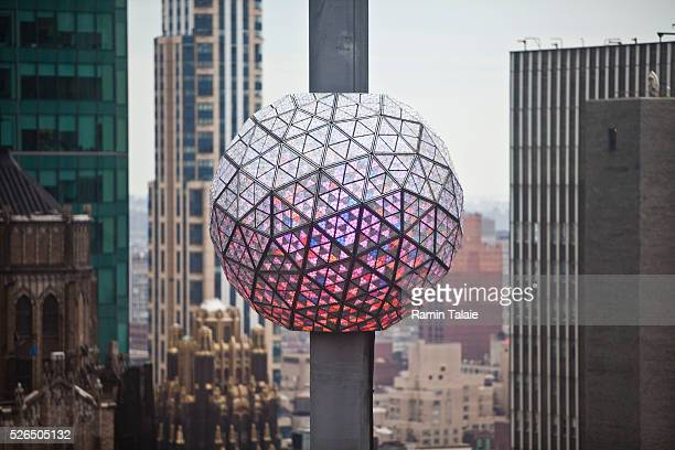 Times Square Waterford Crystal New Year's Eve Ball in New York City on February 14 2012