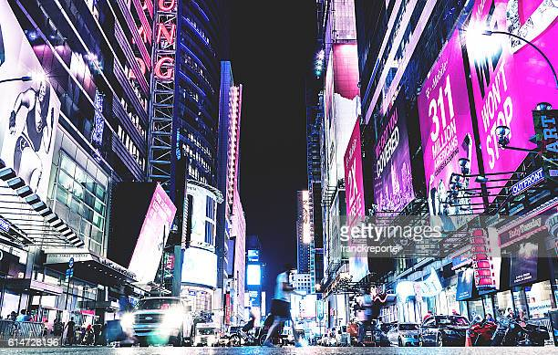 times square with billboard on the buildings