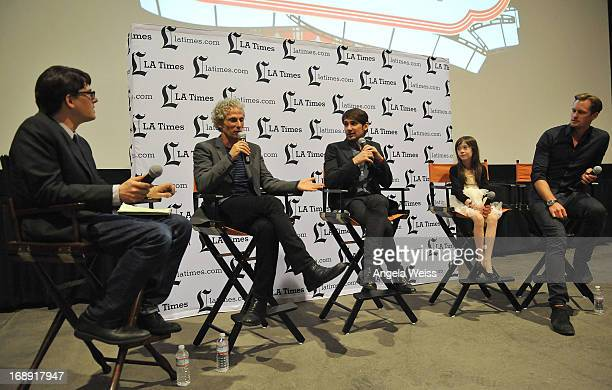LA Times writer Mark Olsen codirector David Siegel codirector Scott McGehee actress Onata Aprile and actor Alexander Skarsgard attend the LA Times...
