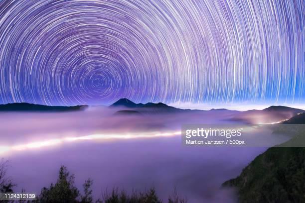 timescape: time trail - east java province stock pictures, royalty-free photos & images