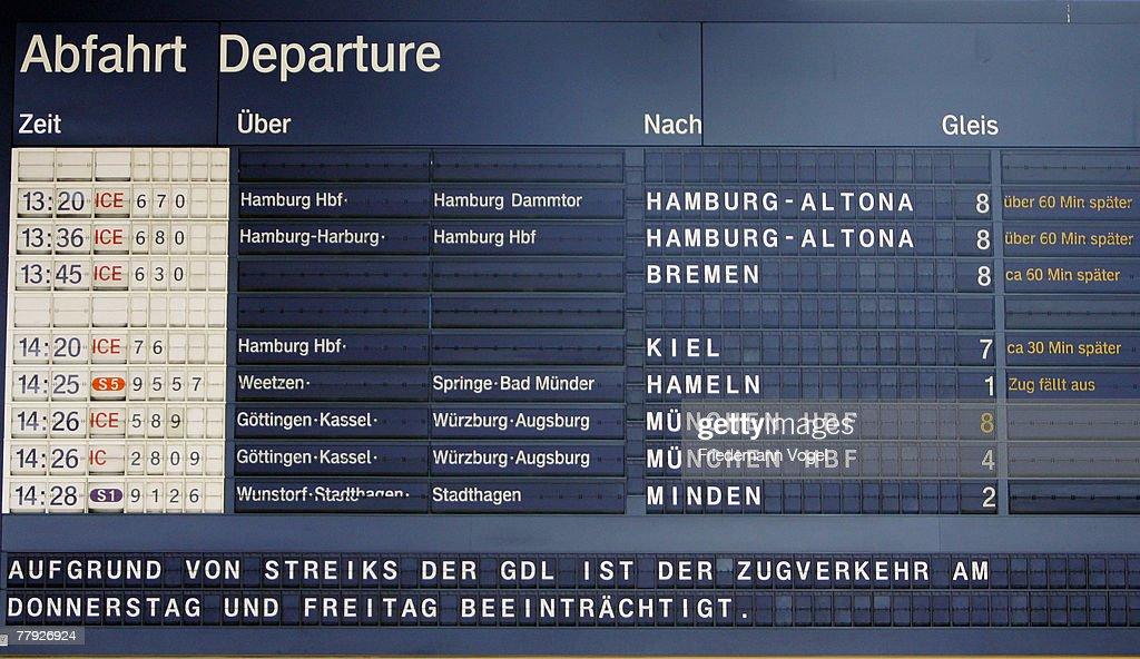 German Train Drivers Launch Complete Strike : News Photo