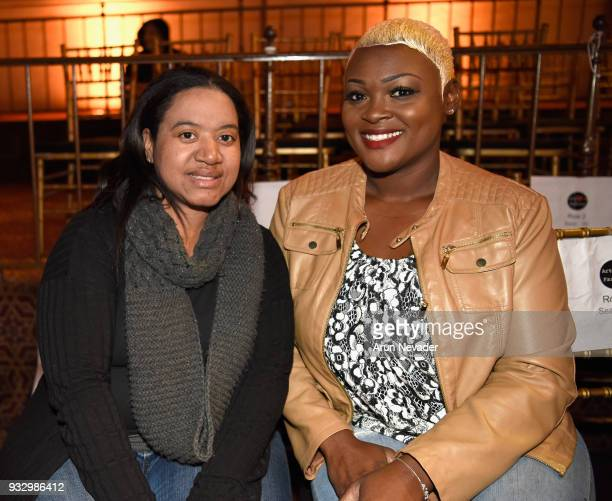 Timi S Tadazzleme and Melody Trice attend Los Angeles Fashion Week Powered by Art Hearts Fashion LAFW FW/18 10th Season Anniversary Backstage and...