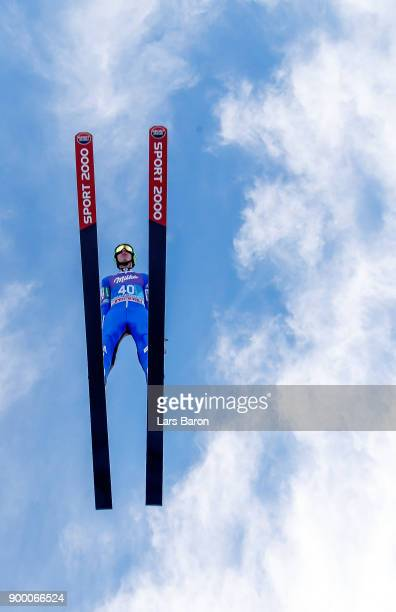 Timi Zajc of Slovenia competes in the FIS Nordic World Cup Four Hills Tournament on December 31 2017 in GarmischPartenkirchen Germany