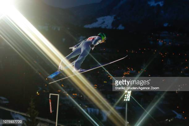 Timi Zajc of Slovenia in action during the FIS Nordic World Cup Four Hills Tournament on December 30 2018 in Oberstdorf Germany