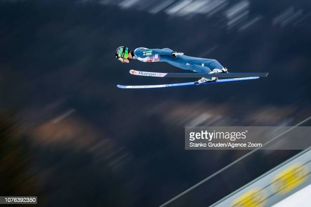 Timi Zajc of Slovenia in action during the FIS Nordic World Cup Four Hills Tournament on January 1 2019 in GarmischPartenkirchen Germany