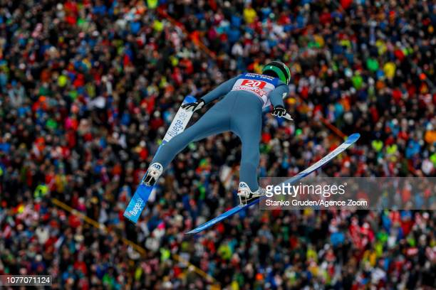 Timi Zajc of Slovenia in action during the FIS Nordic World Cup Four Hills Tournament on January 4 2019 in Innsbruck Austria