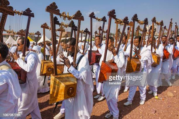 timkat festival in addis ababa ethiopia - orthodox church stock pictures, royalty-free photos & images