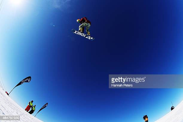 TimKevin Ravnjak of Slovenia competes in the FIS Snowboard World Cup Slopestyle Finals during the Winter Games NZ at Cardrona Alpine Resort on August...