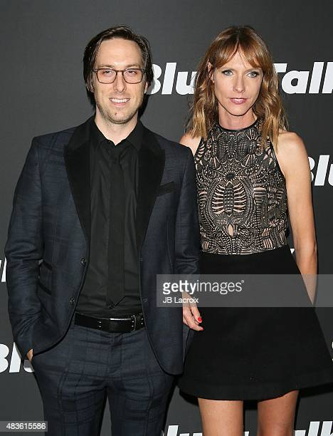 Timm Sharp and Dolly Wells attend the STARZ' 'Blunt Talk' series premiere on August 10 2015 in Los Angeles California