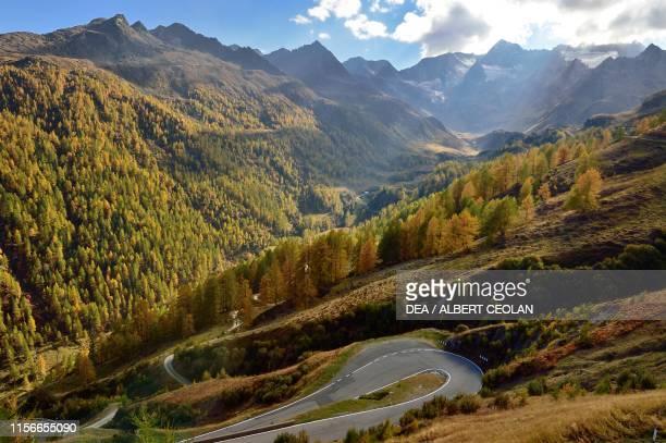 Timmelsjoch scenic high alpine road Val Passiria TrentinoAlto Adige Italy