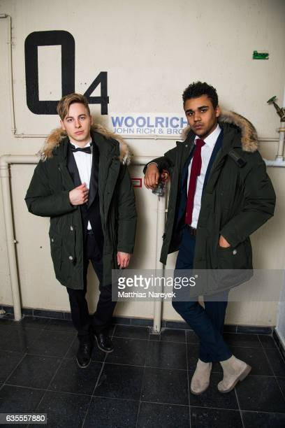 Timmi Trinks and Langston Uibel attend the Off Berlinale Party with Woolrich during the 67th Berlinale International Film Festival Berlin at on...