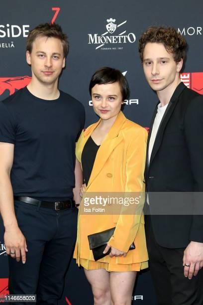 Timmi Trinks Lena Urzendowsky and Jonathan Berlin attends the New Faces Award Film at Umspannwerk Kreuzberg on May 2 2019 in Berlin Germany