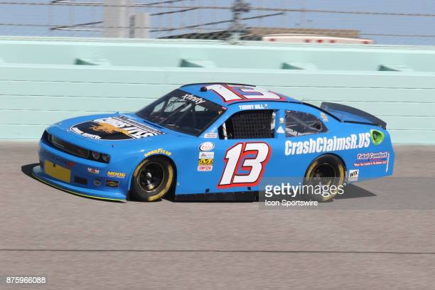 Timmy Hill driver of the OCR Gaz Bar Dodge qualifying for the Ford Ecoboost 300 at HomesteadMiami Speedway on November 18 2017 in Homestead Florida