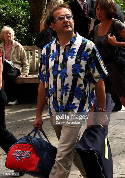 Timmy Mallet attends Mark Speight's Memorial Service at Parish Church of Saint Paul on August 6 2008 in London England
